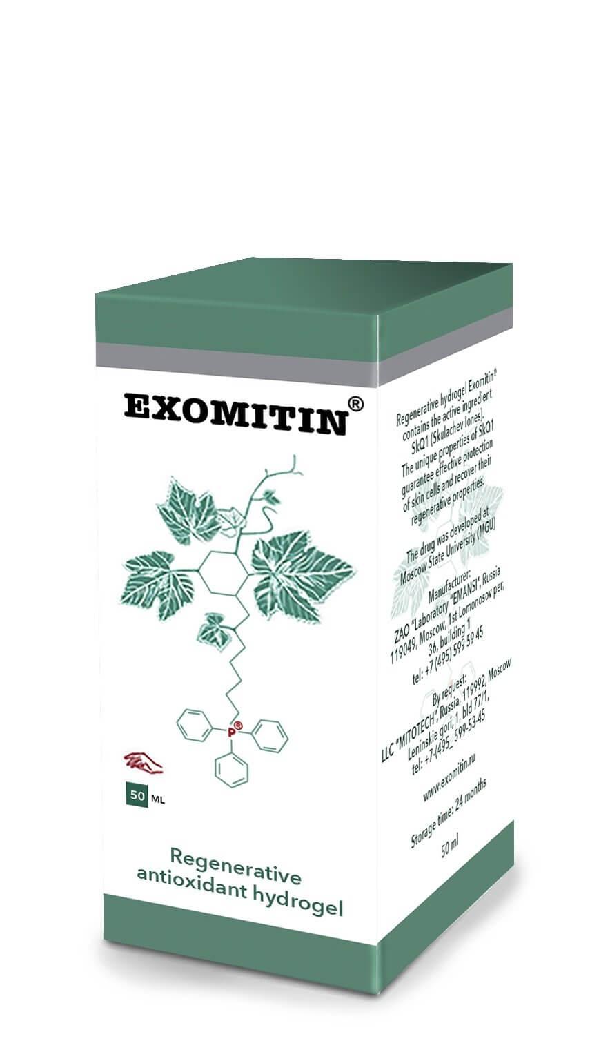 Anti-aging - EXOMITIN (Skulachev Ions | SKQ1 Regenerating Antioxidant Hydrogel)