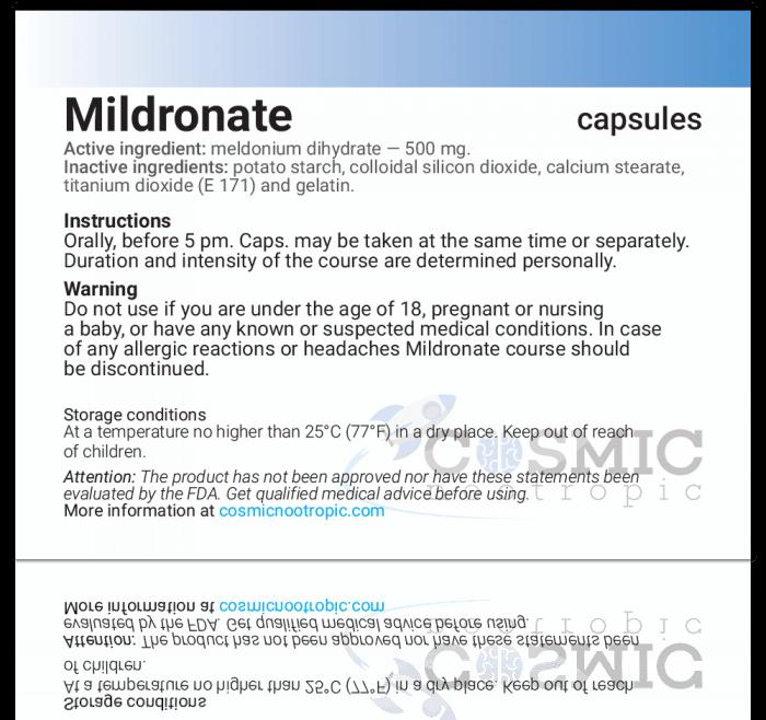 Nootropics - MILDRONATE ® [Meldonium]