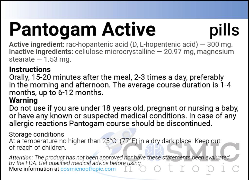 pantogam active-instruction
